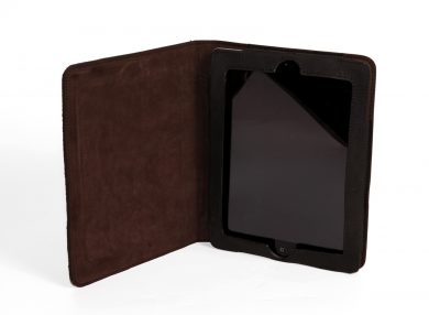 Mahiout Ifield iPad case in salmon skin and leather