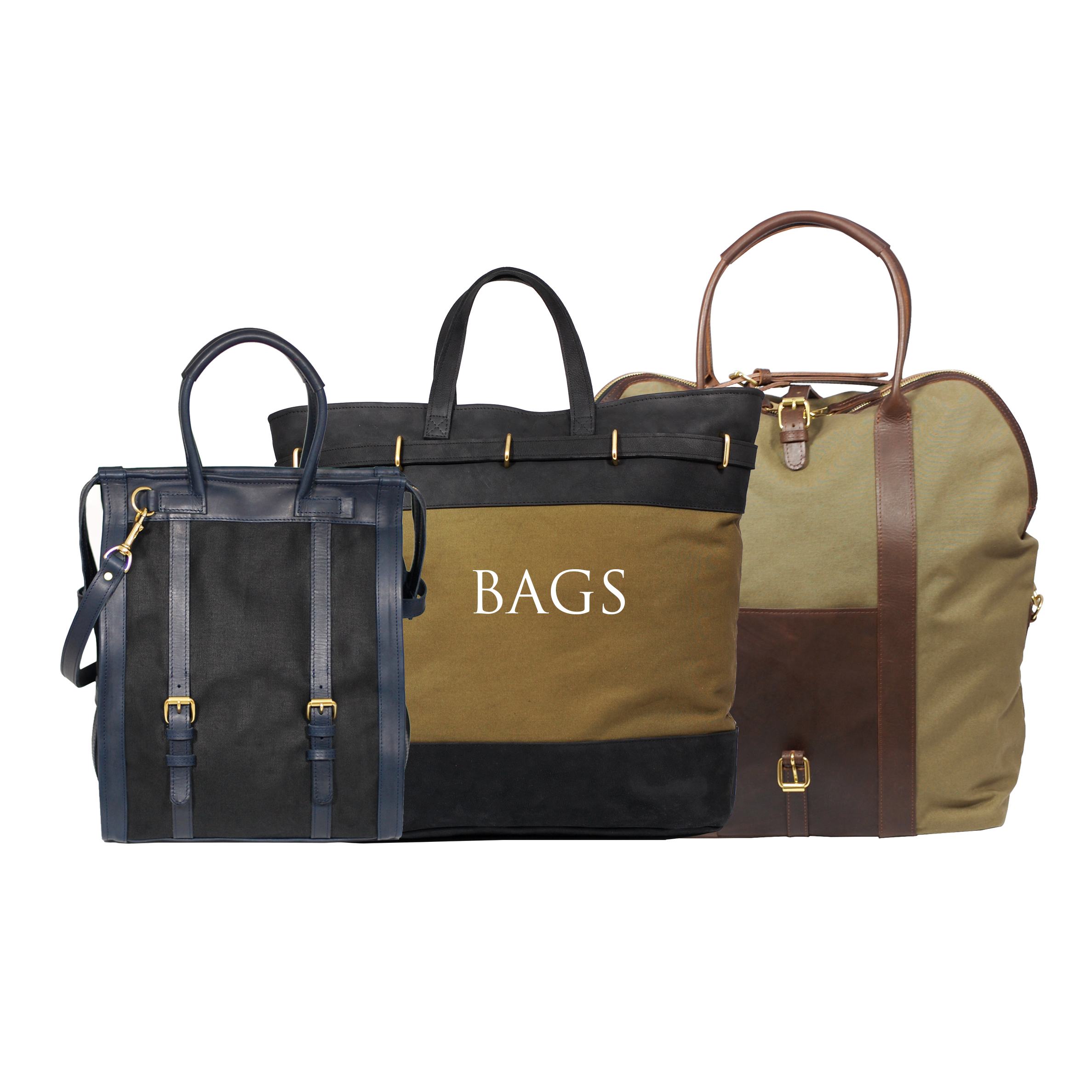Luxury and functional bags in canvas and leather and leather goods with brass fittings perfect for everyday use travel and weekend getaways www.mahiout.com