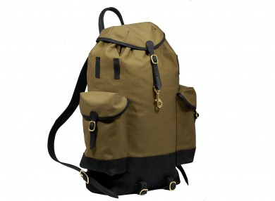 MAHIOUT Perce neige backpack in black/olive, designer, luxury, craftsmanship