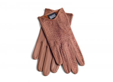 Mahiout italian gloves in salmon skin