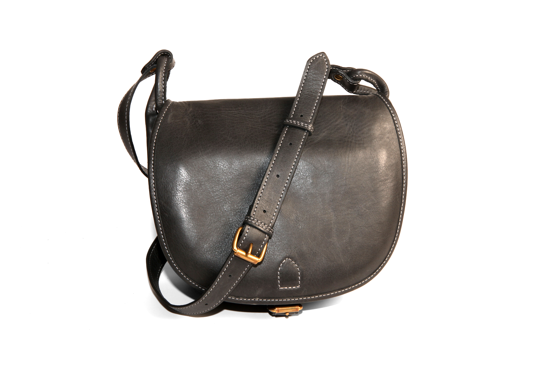 Mahiout Black Powder bag in grey leather