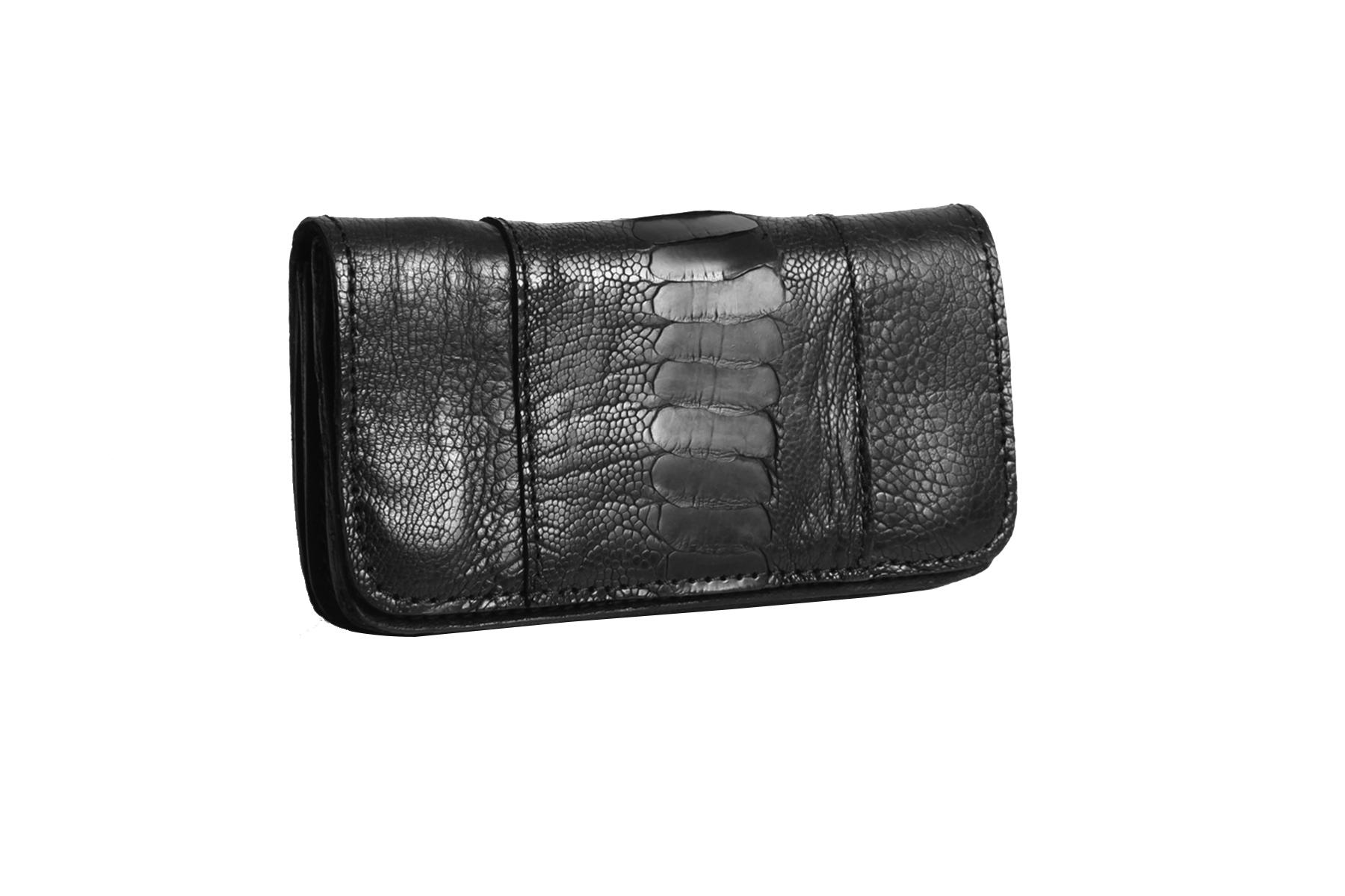 mahiout eve biker wallet in ostrich legs skin