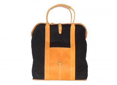 mahiout doc bag in oiled skin and leather