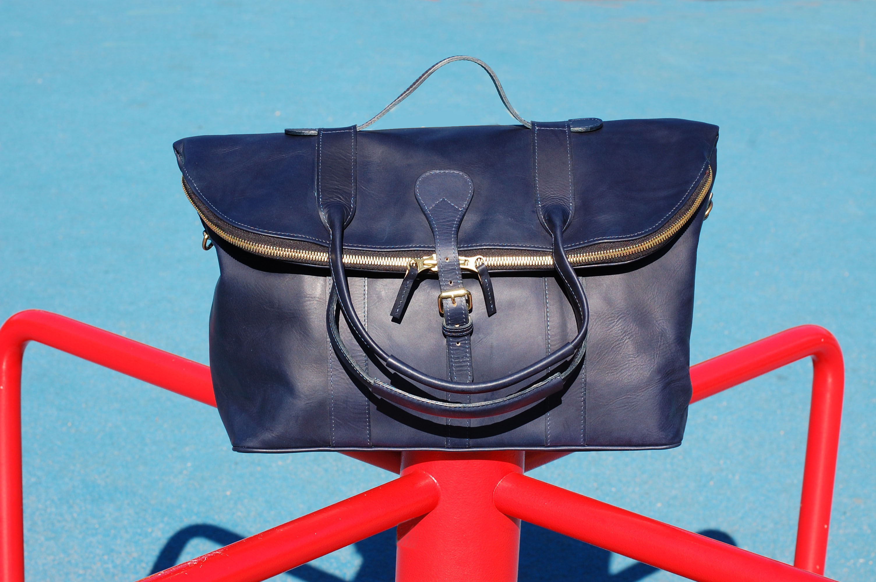 mahiout doc bag in leather travel weekend