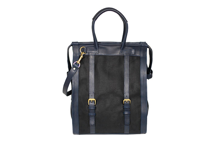 mahiout field companion bag in waxed cotton and leather, luxury bags