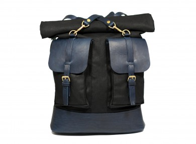 Mahiout canton bakpack no2, canvas and leather backpack