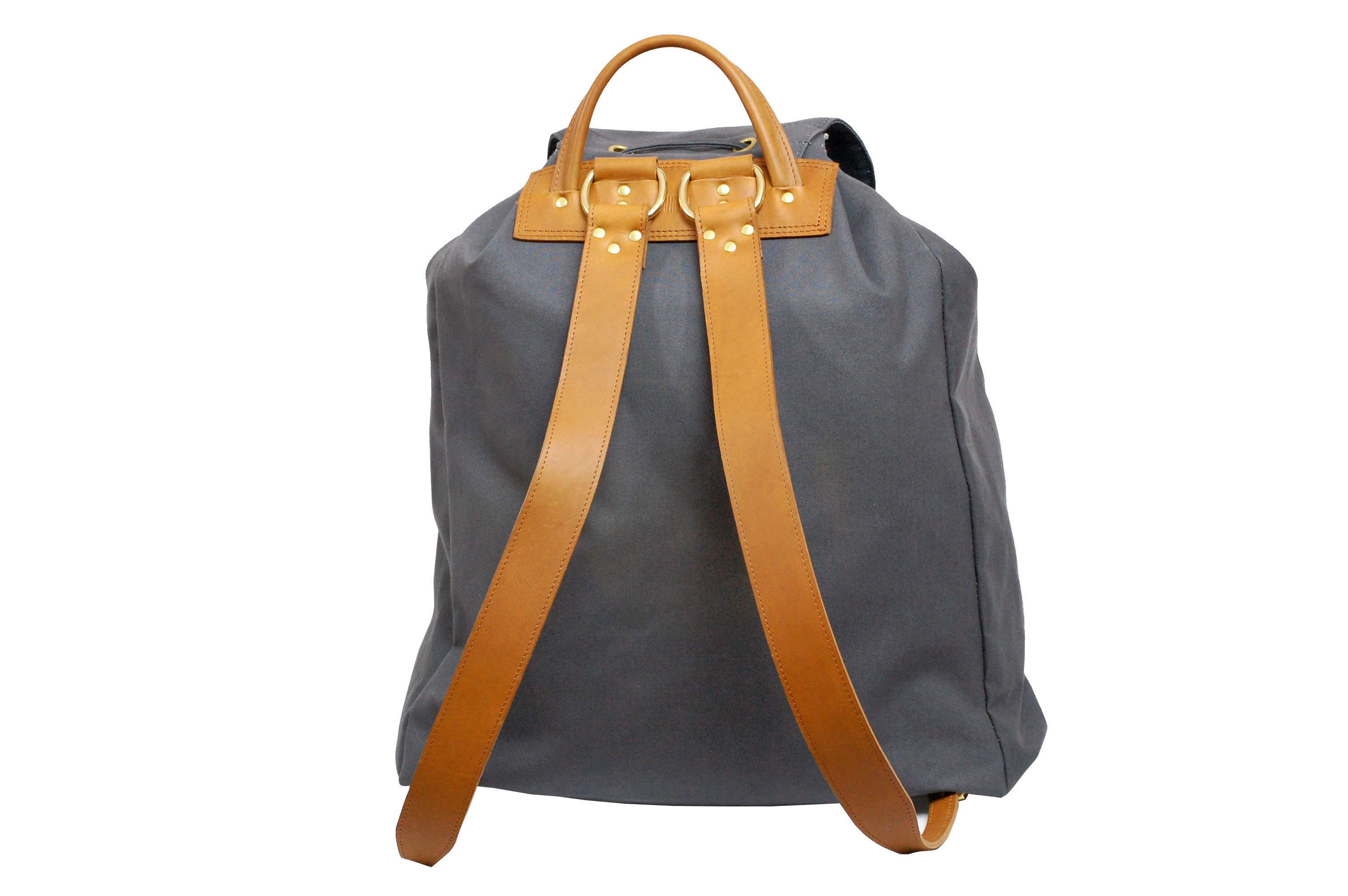 LUMAHIOUT HELRIK BACKPACK IN CANVAS AND LEATHER, LUXURY DESIGNER BACKPACK