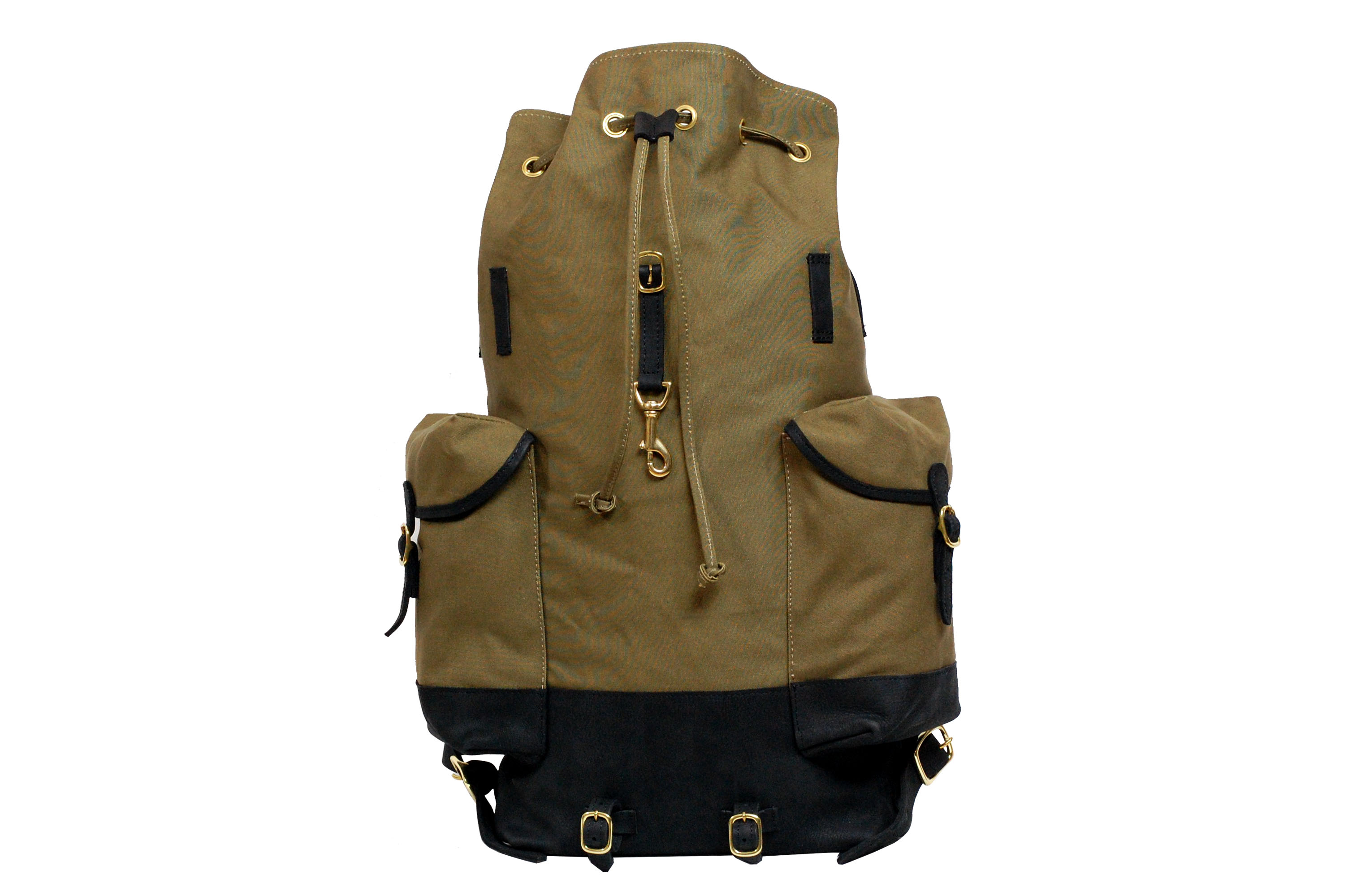 Mahiout Escape backpack in canvas and leather, luxury designer bag