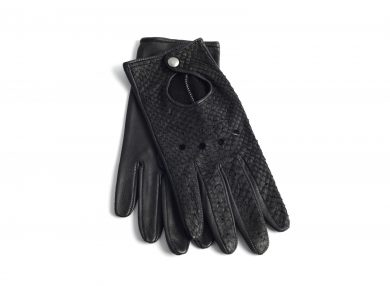 Mahiout Shelby driving gloves in salmon and lamb skin