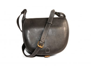 Mahiout Black Powder bag in grey leather