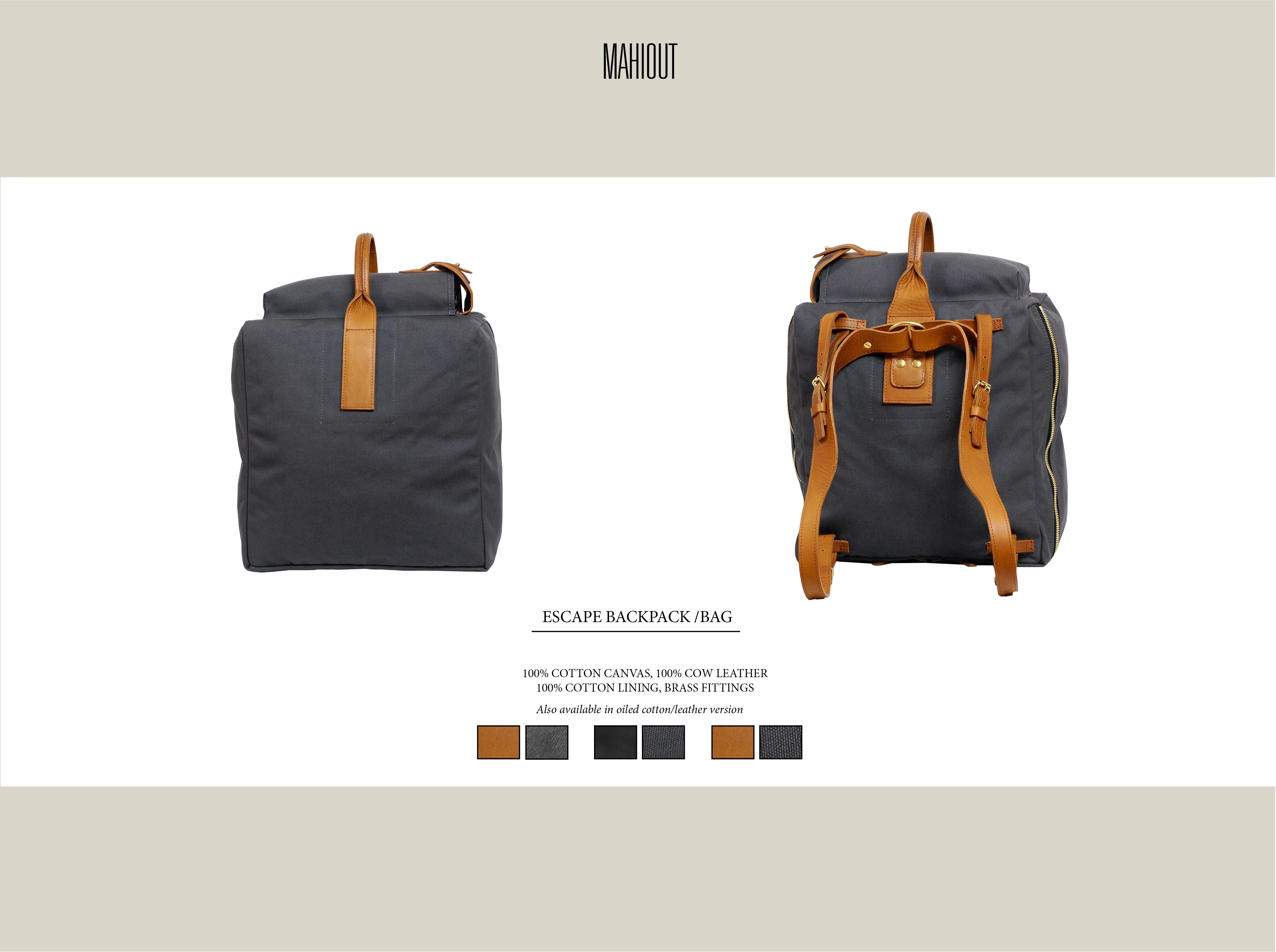 mahiout escape bag backpack