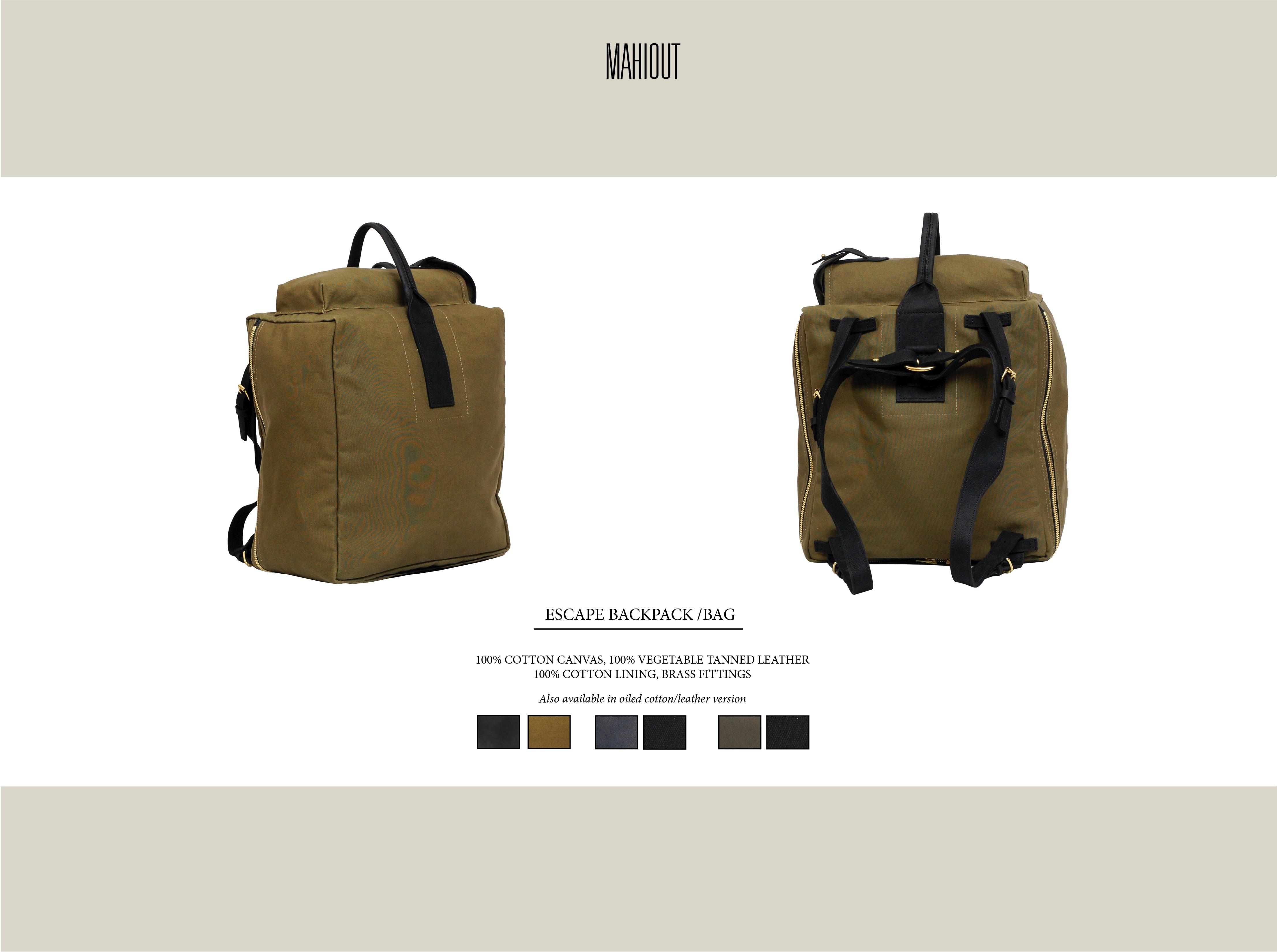 mahiout escape backpack bag