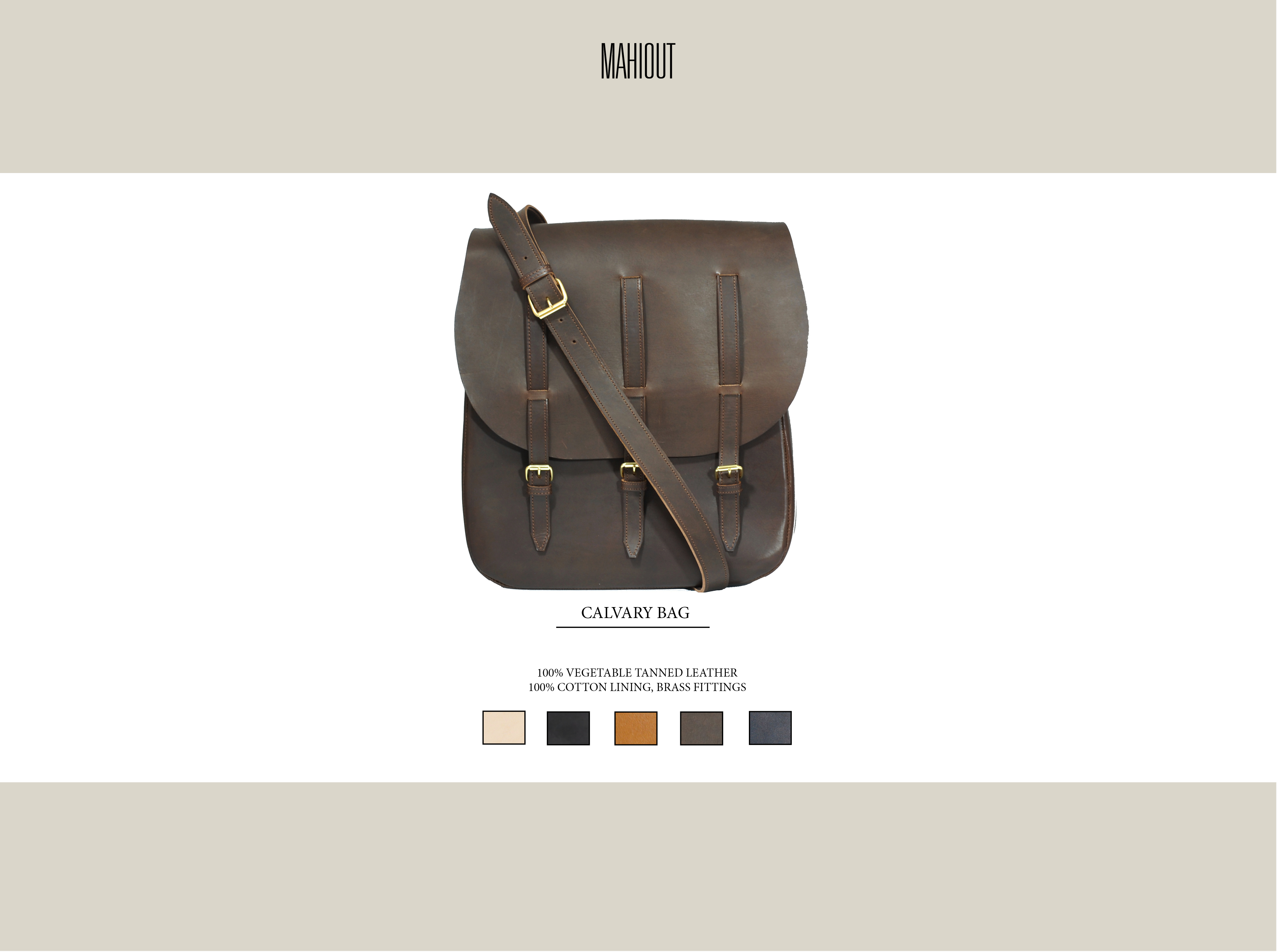 mahiout calvary messenger bag in leather