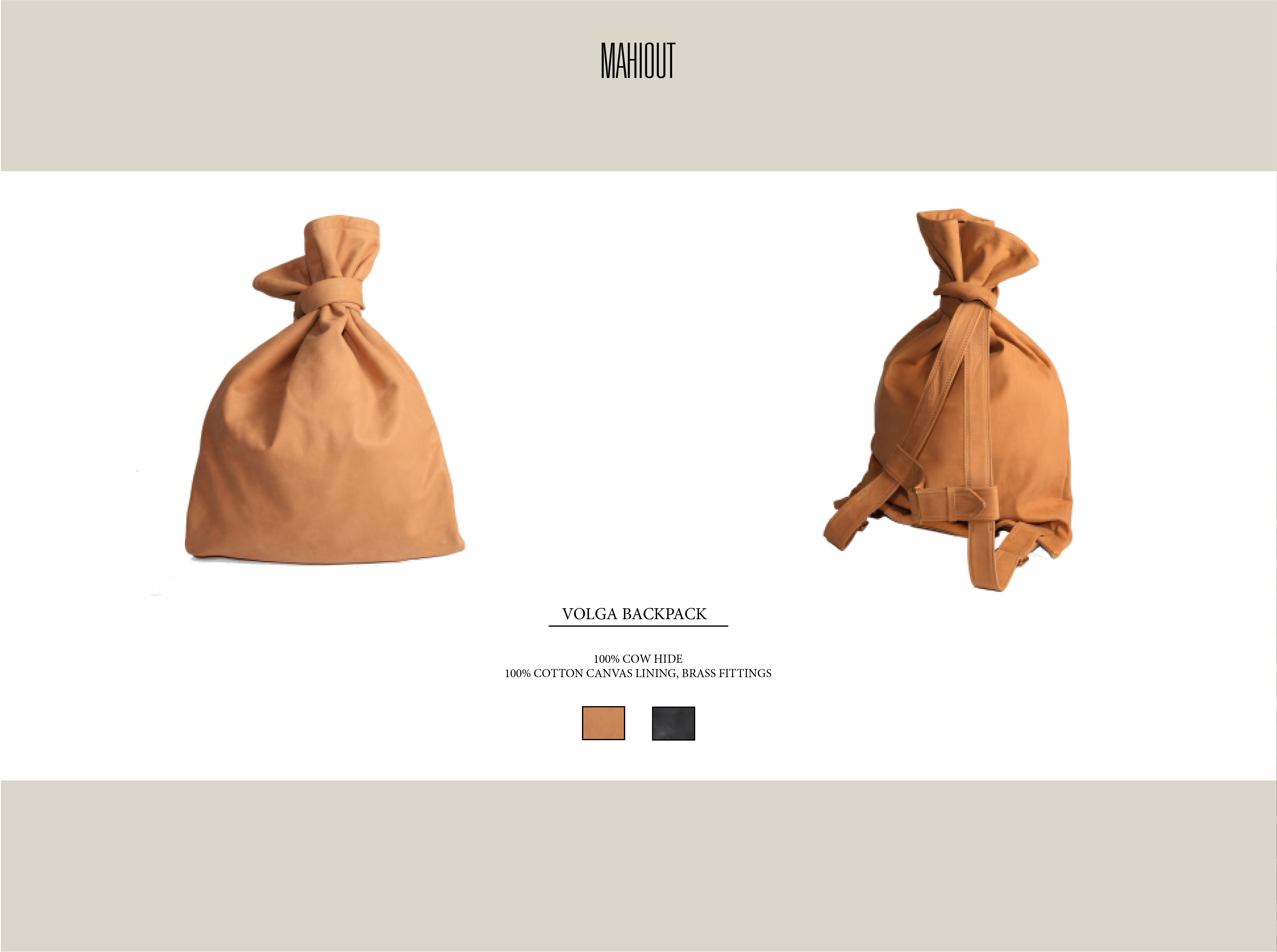 mahiout volga backpack in leather