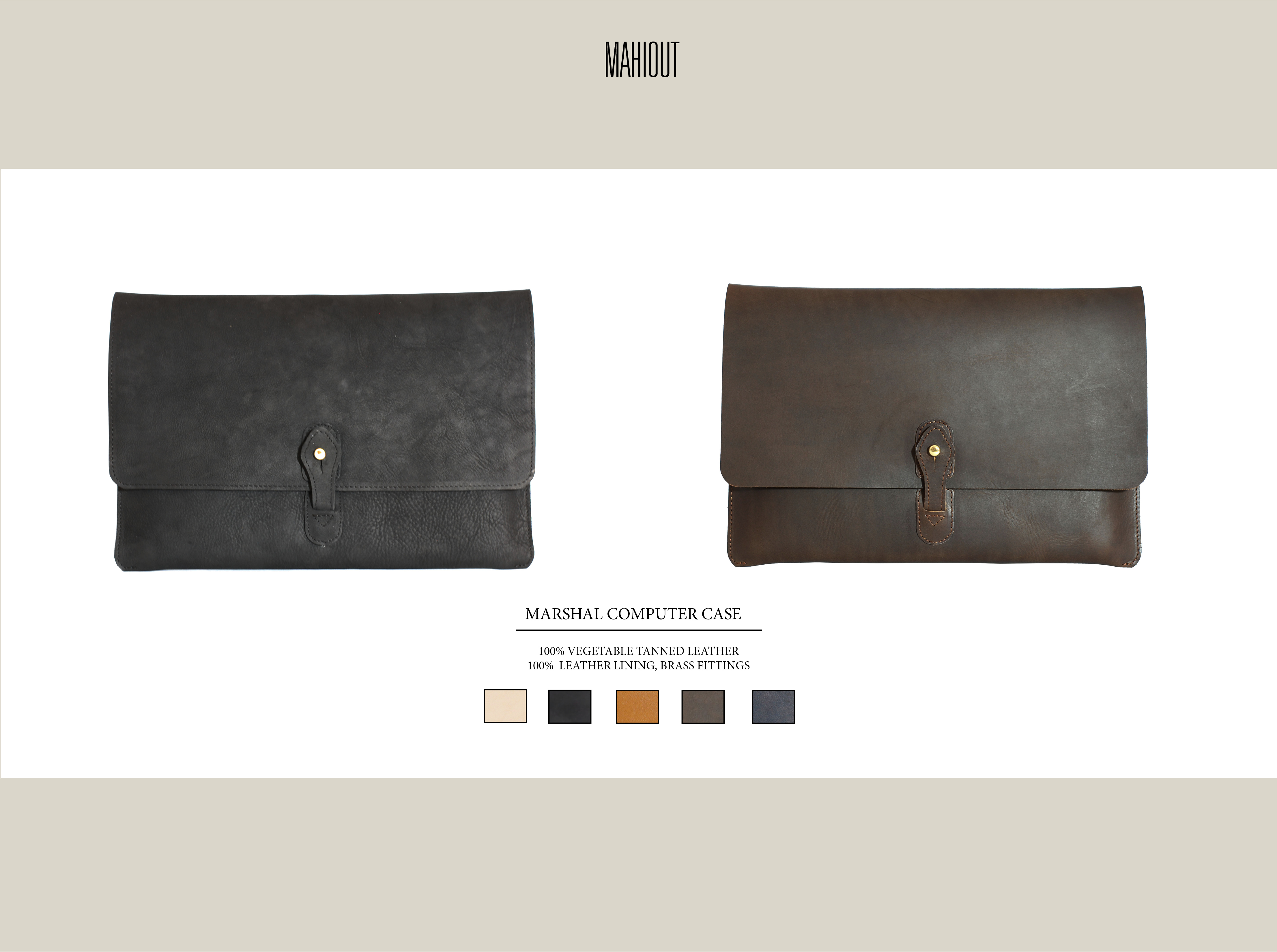mahiout marshal computer case in leather for macbook