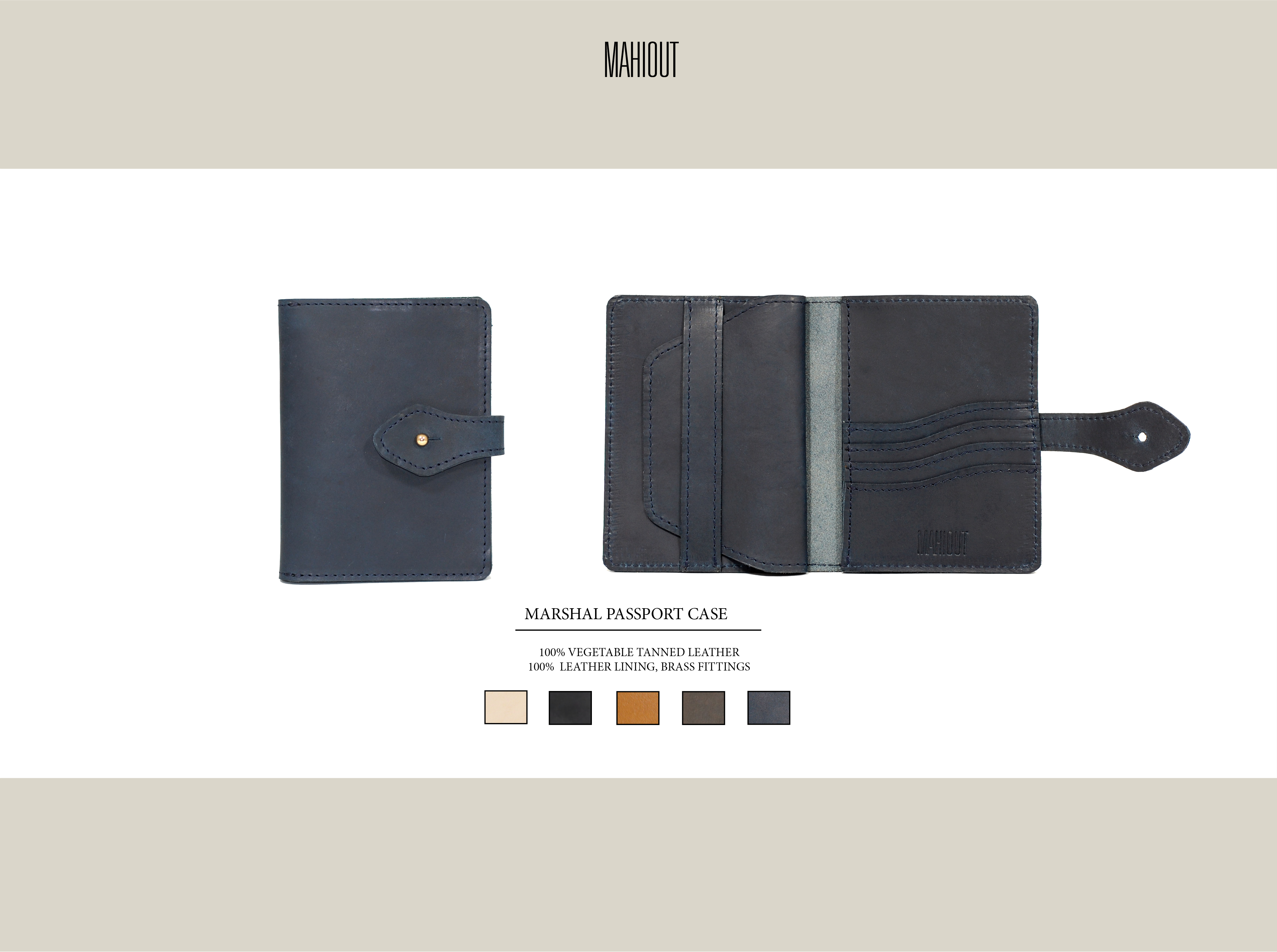 mahiout marshal passport case in leather
