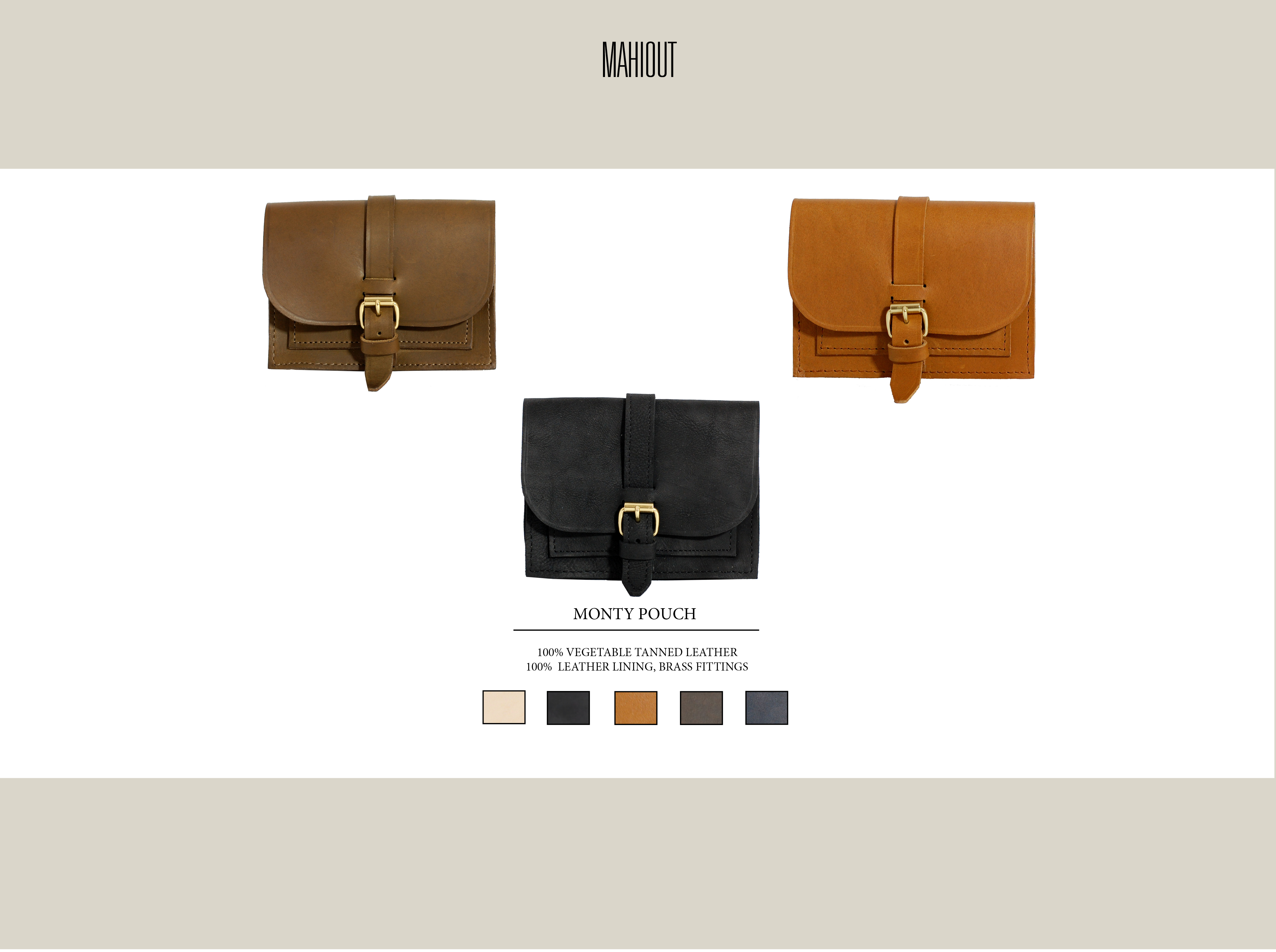 mahiout monty pouch in leather belt bag