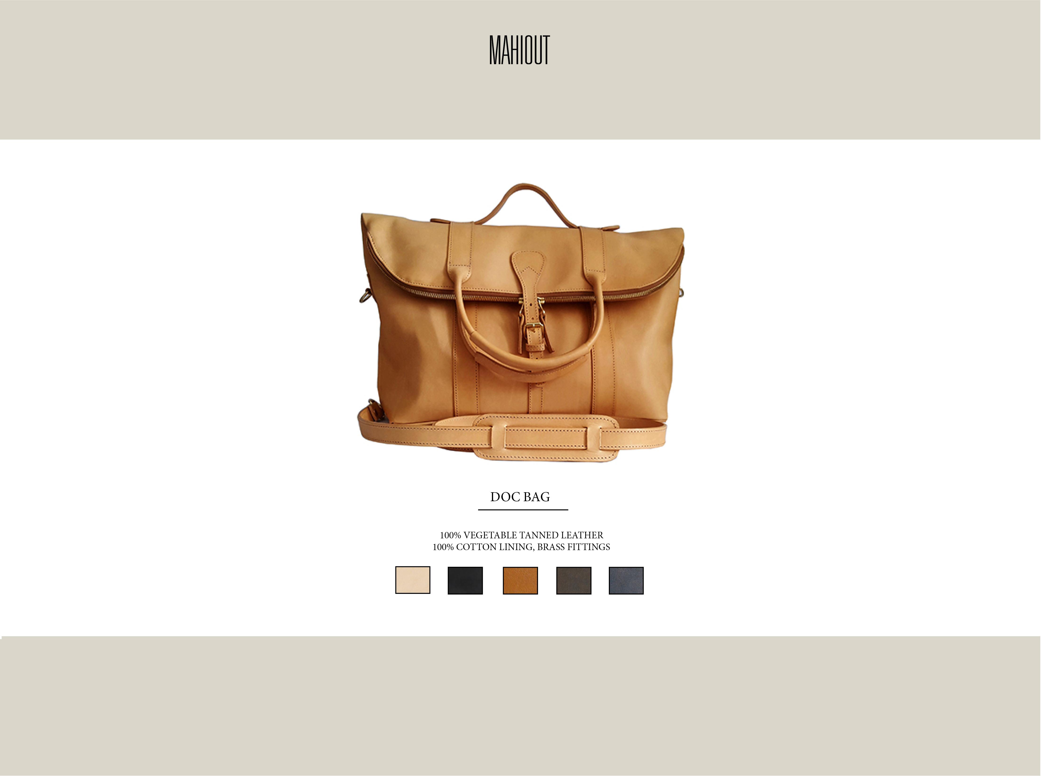 mahiout doc bag leather