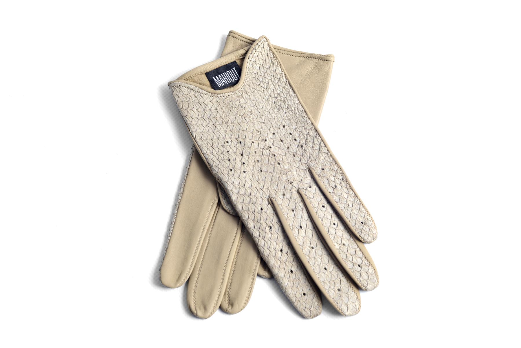 Mahiout Jackie gloves in salmon skin